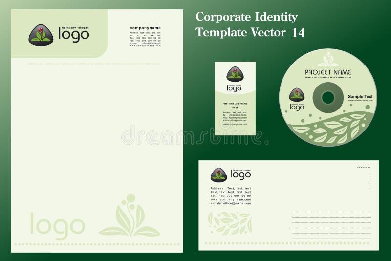 naturalny korporacyjny szablonu wektora ilustracji