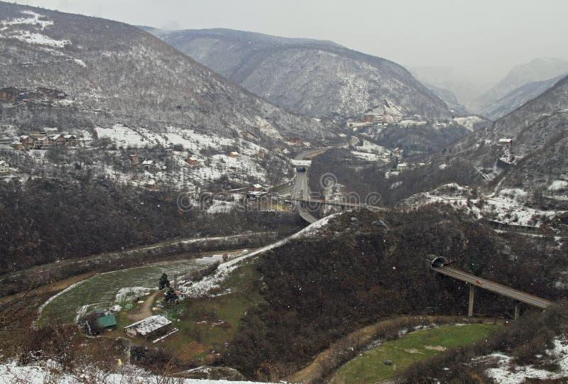 Naturalny krajobraz w obrzeżach Sarajevo zdjęcie royalty free