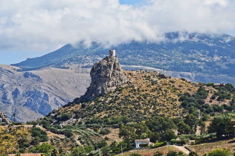 Naturalny krajobraz w Sicily regionie w Włochy fotografia stock