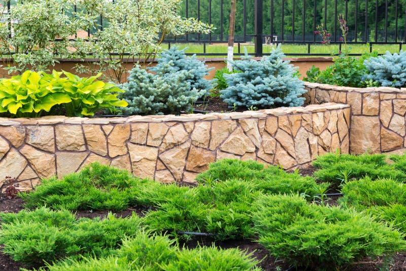Naturalny kształtować teren w domu ogródzie fotografia stock