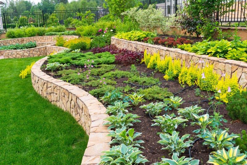 Naturalny kształtować teren w domu ogródzie fotografia royalty free