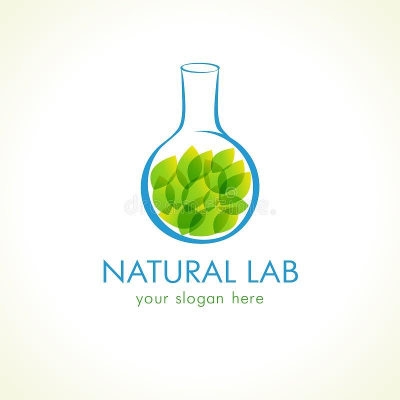 Naturalny lab logo ilustracja wektor