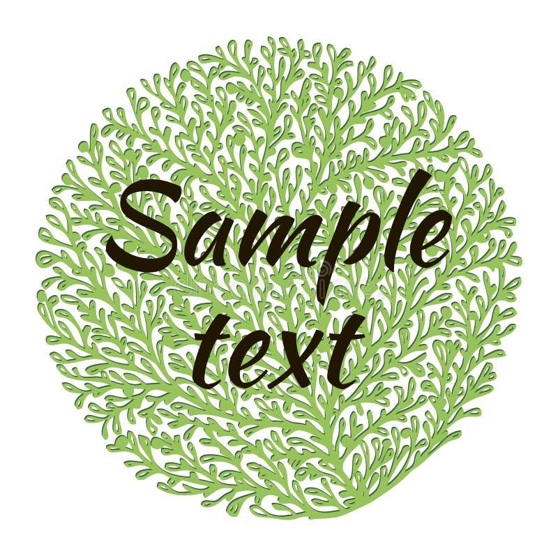 Naturalny logo zdjęcia stock
