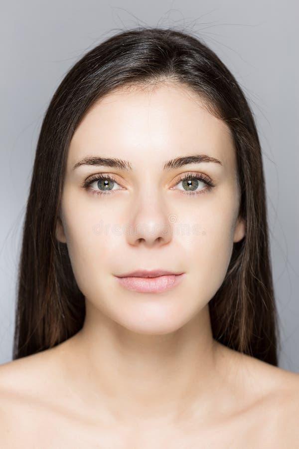 Naturalny makijażu piękno Twarz obrazy stock