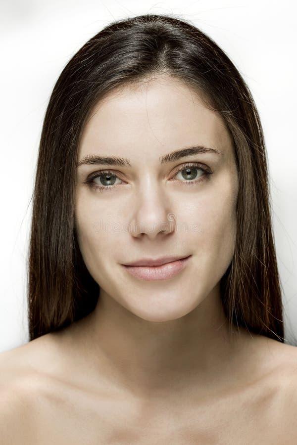 Naturalny makijażu piękno Twarz zdjęcia stock