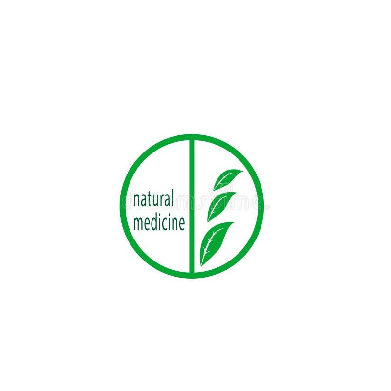 Naturalny medycyna logo royalty ilustracja