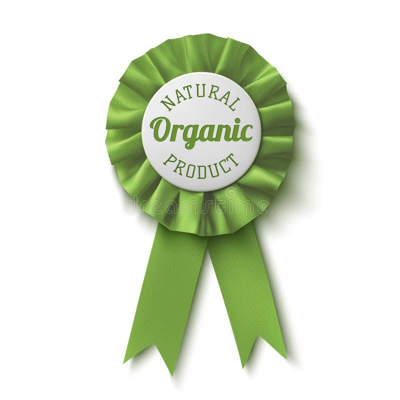 Naturalny, organicznie produkt, Realistyczna, zielona etykietka, ilustracji