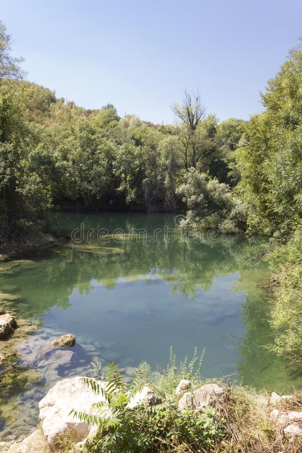 Naturalny park otacza Kravica siklawy obraz royalty free