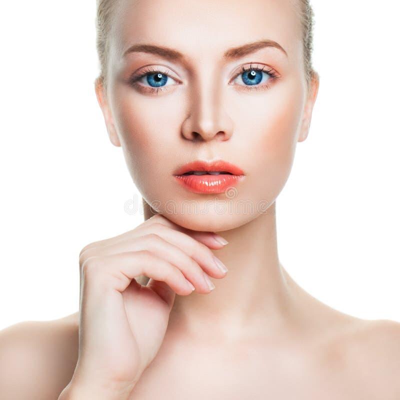 Naturalny piękno i Skincare pojęcie Zdrój twarz obrazy royalty free