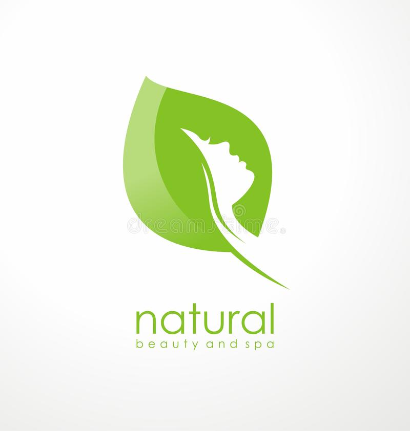 Naturalny piękno logo projekta pomysł ilustracji
