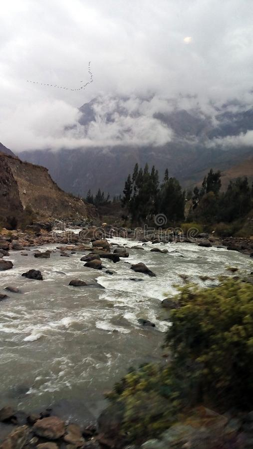 Naturalny piękny i rzeka obrazy royalty free
