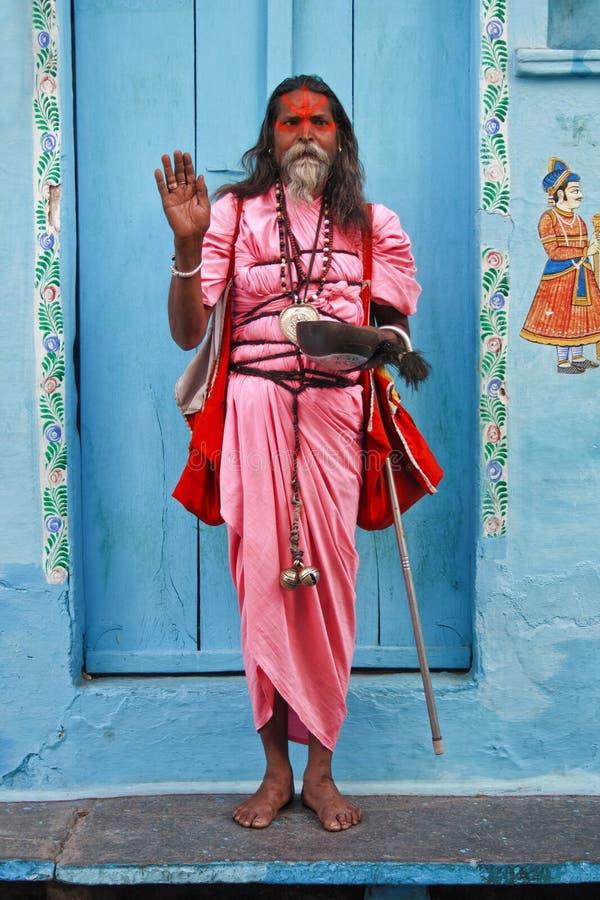 Naturalny portret sadhu zdjęcia royalty free