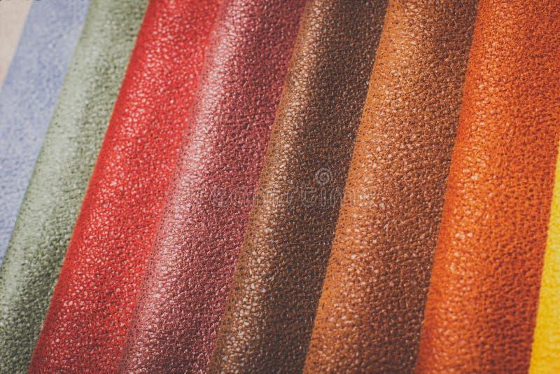 Naturalny różnobarwny rzemienny tła zbliżenie obrazy royalty free