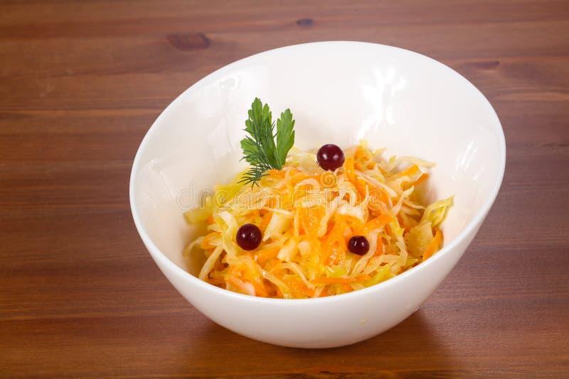 Naturalny sauerkraut z cranberry zdjęcie royalty free
