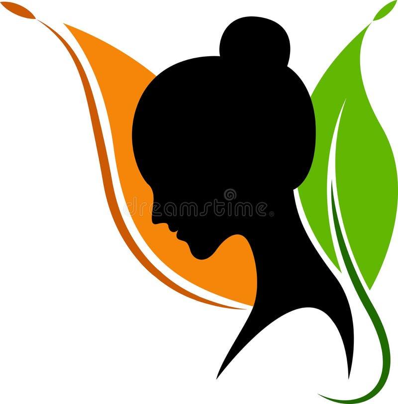 Naturalny twarz logo ilustracji
