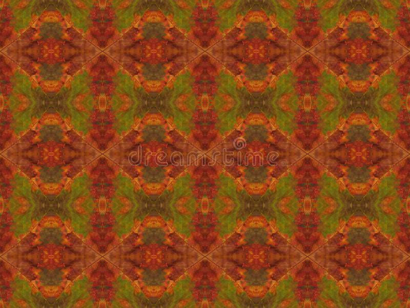 Naturalny wzór od czerepów suchy multicolor jesień liść obrazy stock
