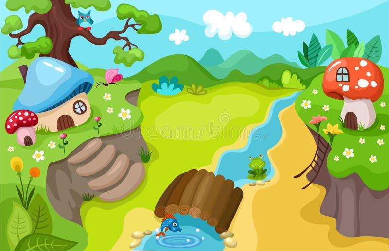 Naturbakgrund stock illustrationer
