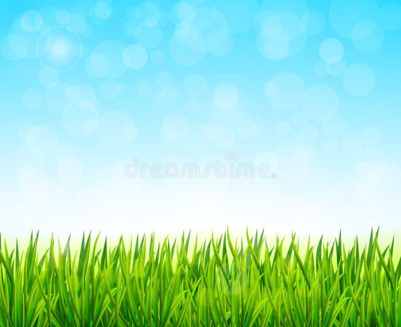 Naturbakgrundsvektor royaltyfri illustrationer