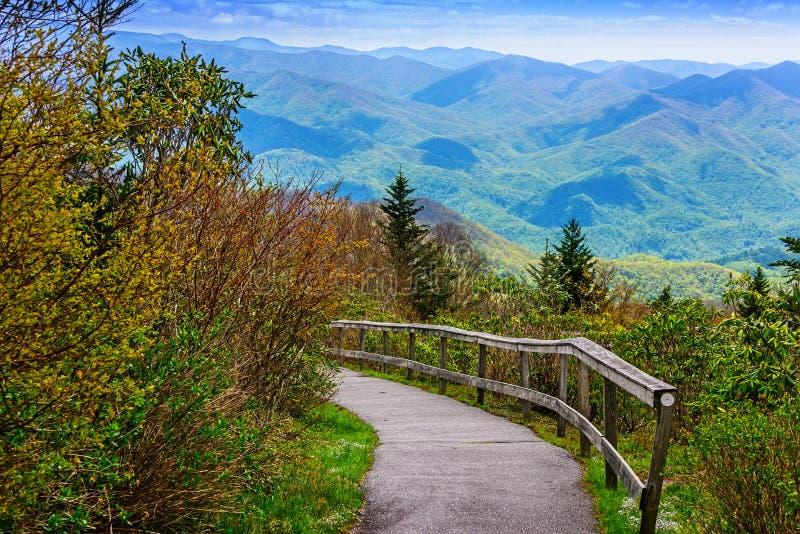 Naturbana i berg arkivfoton