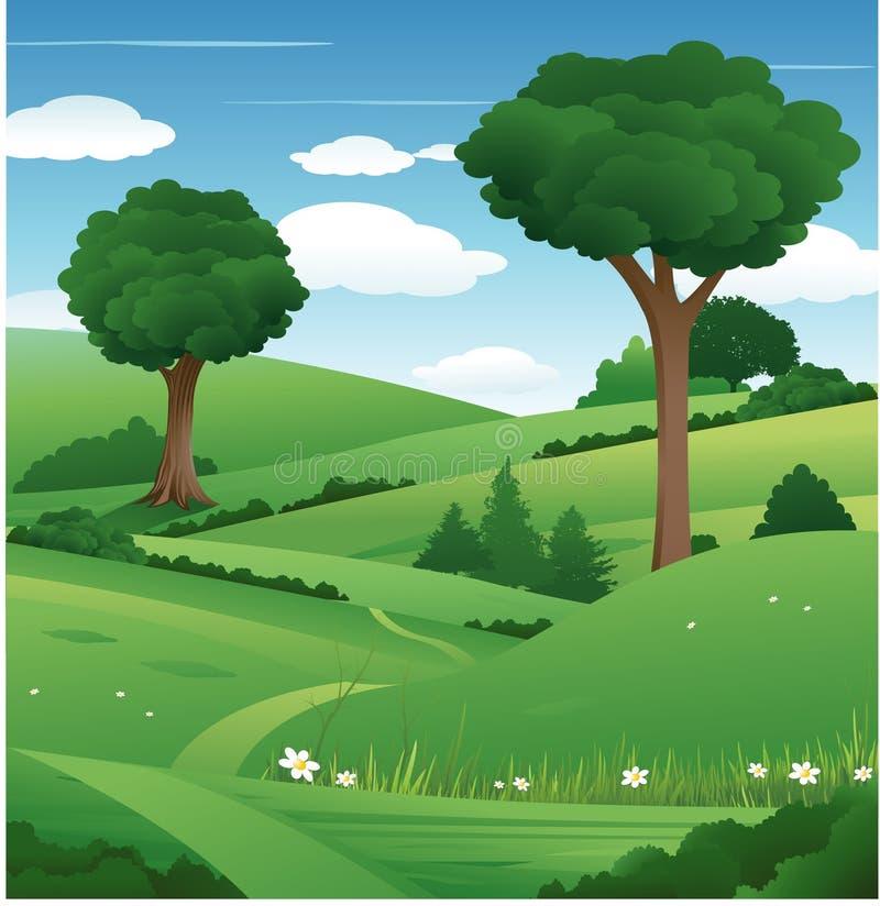Naturbaumhintergrund stock abbildung