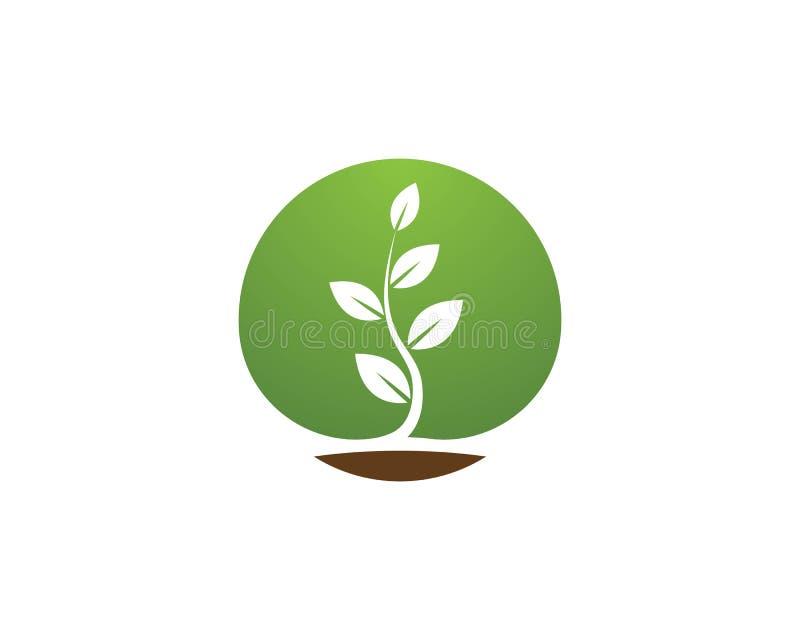 Naturbetriebsikonen-Logovektor stock abbildung