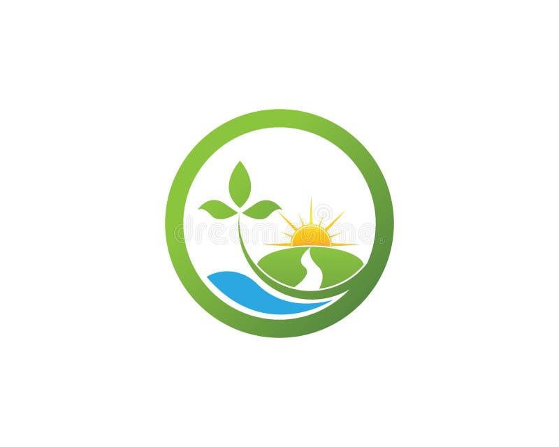 Naturblatt-Logodesign stock abbildung