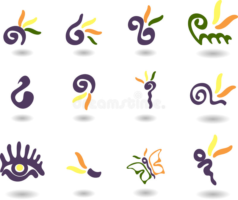Download Nature stock vector. Image of clip, abstract, gray, flower - 7230084