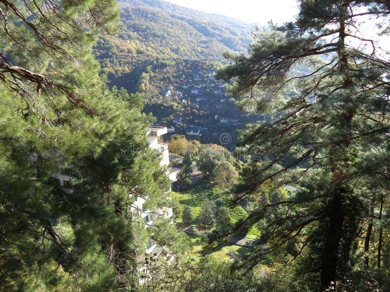 Nature Of Abkhazia. The City Of New Athos. royalty free stock image