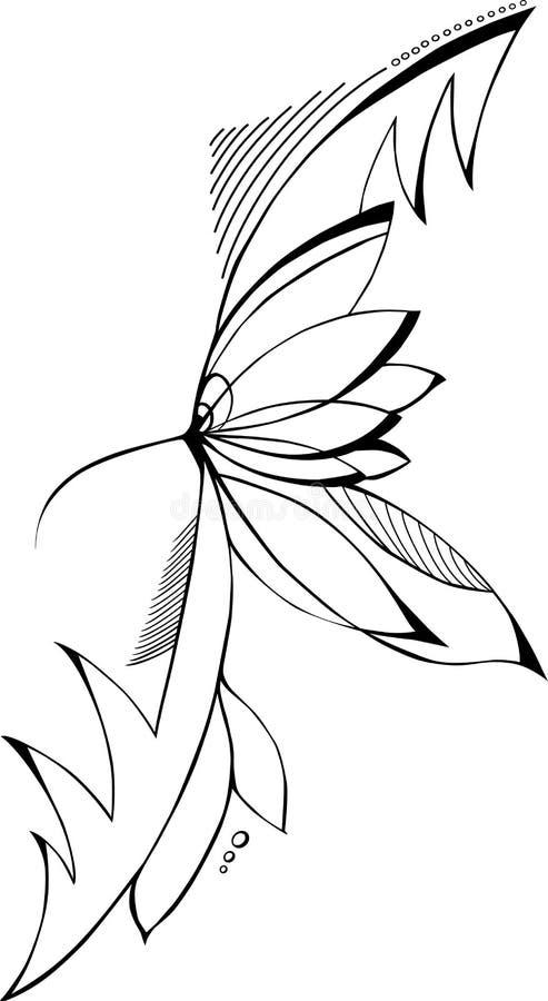Nature abstraite (colibri) illustration libre de droits