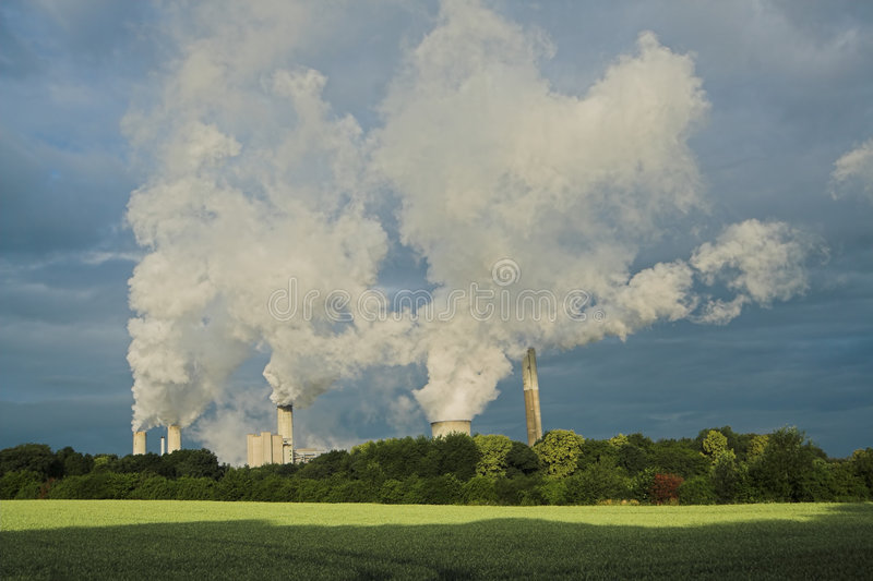 Nature And Air Pollution royalty free stock photography