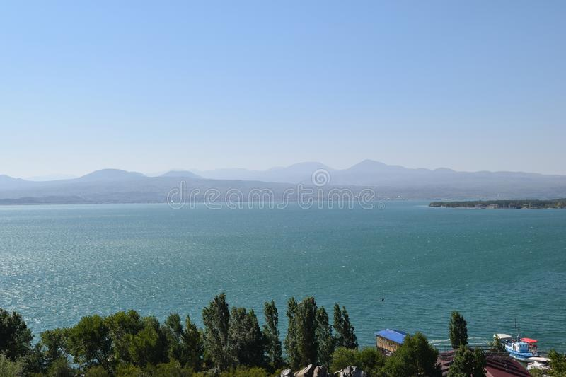 Nature of Armenia.Lake Sevan royalty free stock photography