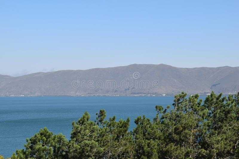Nature of Armenia.Lake Sevan stock photography
