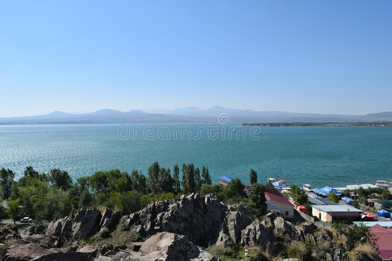Nature of Armenia.Lake Sevan royalty free stock image