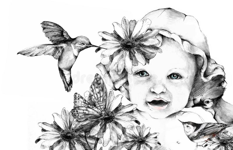 Nature Baby vector illustration