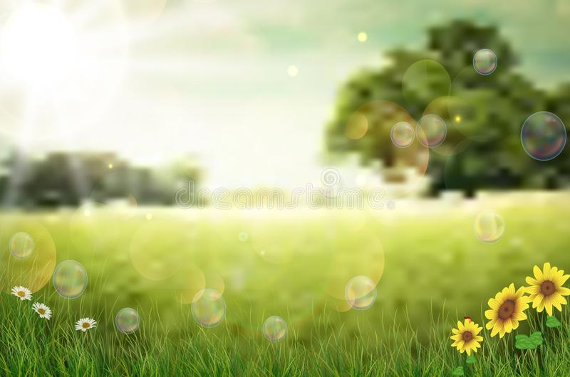 Nature background in the morning royalty free illustration