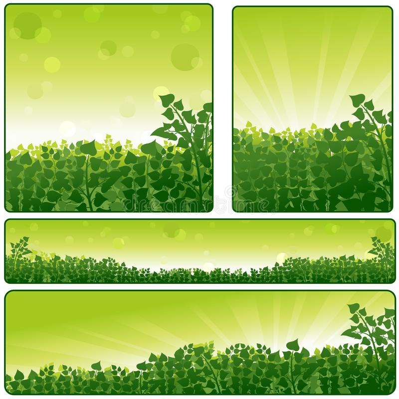 Download Nature Banner Set stock vector. Image of sunlight, beams - 26680171