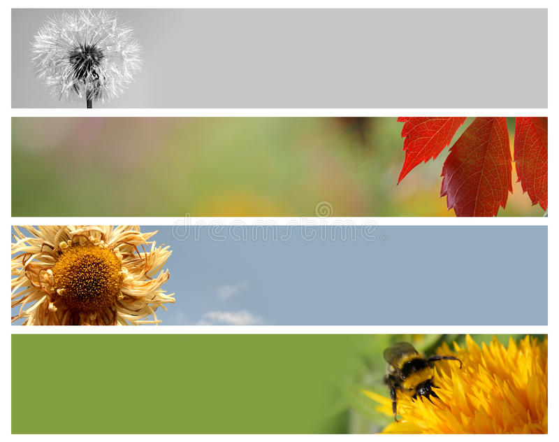 Nature banners set royalty free stock photography