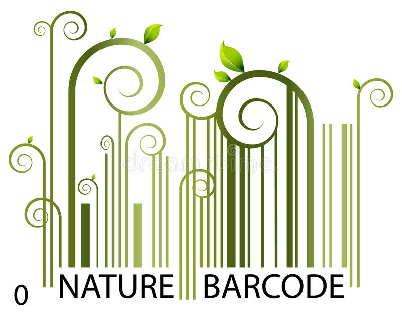 Nature Barcode royalty free illustration