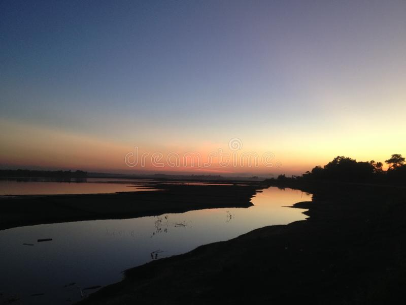 Nature beauty sunset stock image