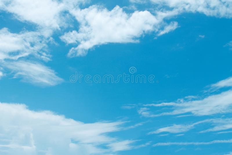 Nature blue sky background and white clouds patterns , copy space. Close up Nature blue sky background and white clouds patterns , copy space stock images