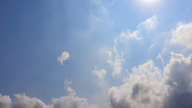 The nature of blue sky with cloud in the morning royalty free stock photography