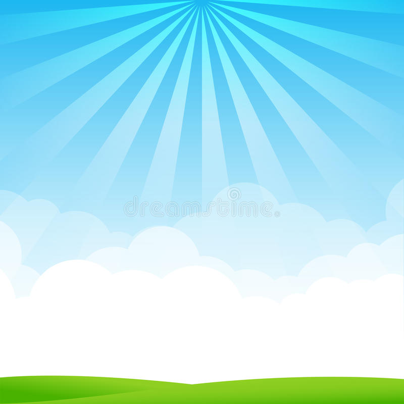 Free Nature Blue Sky Sunburst Copy Space And Greenfiel Background 002 Stock Photo - 51295660