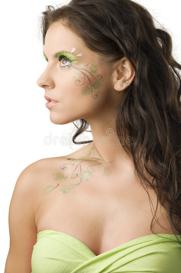Download Nature bodypaint stock photo. Image of artistic, glance - 6127368