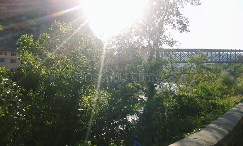 Nature bridge sun royalty free stock images