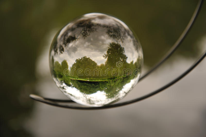 Nature in a bubble. royalty free stock photography