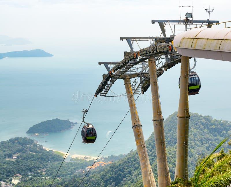 Cable car on Langkawi Island, Malaysia stock image