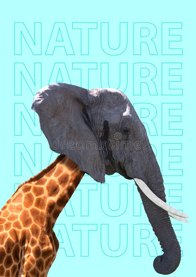 Nature can be different. Modern design. Contemporary art collage. stock image
