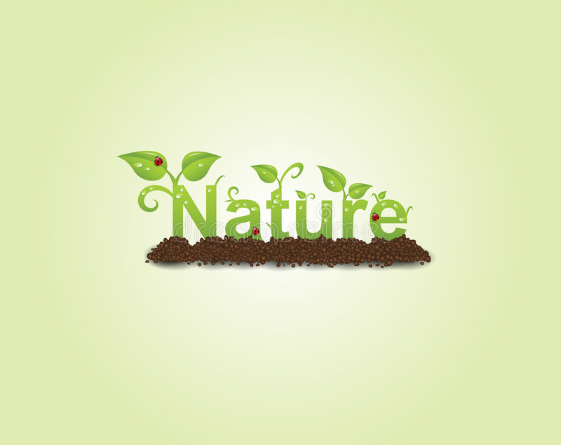 Nature caption royalty free illustration