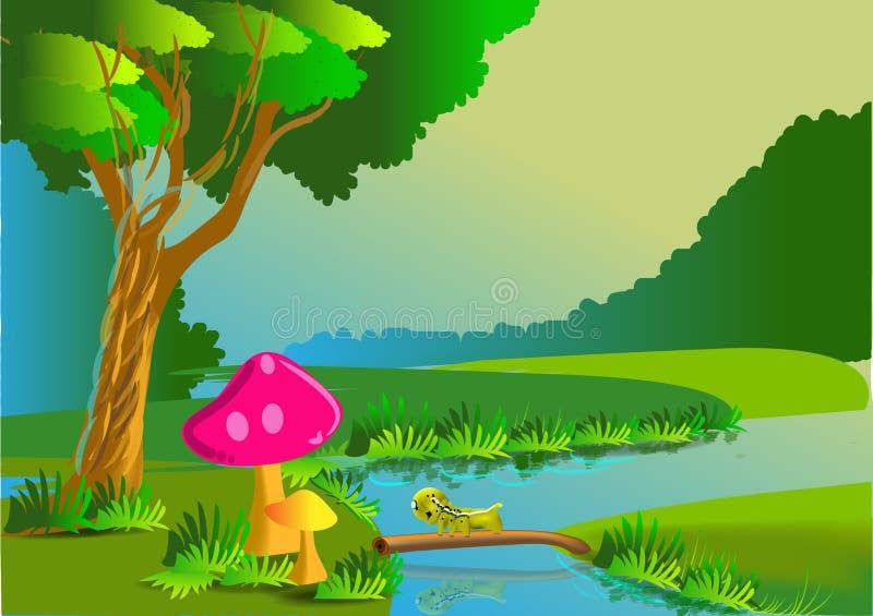 Download Nature cartoon stock illustration. Illustration of plant - 33611686