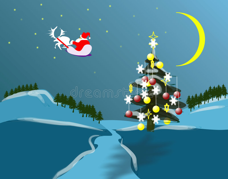 Nature of Christmas holidey stock illustration